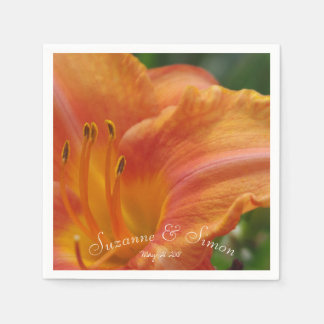 Lily in Orange Disposable Napkins