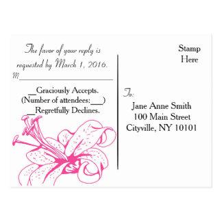 Lily & Lantern Wedding Collection, RSVP Postcard