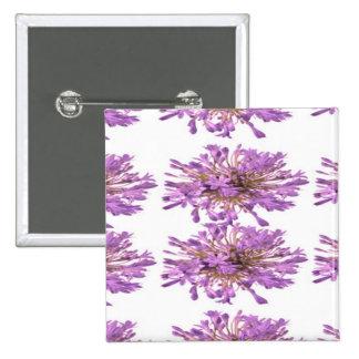 LILY LILLY Flower - Purple Violet Voilet 15 Cm Square Badge