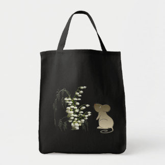 Lily of the Valley and cute mouse art Tote Bag