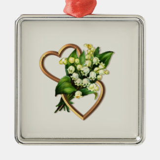 Lily of the Valley and Hearts Christmas Ornament