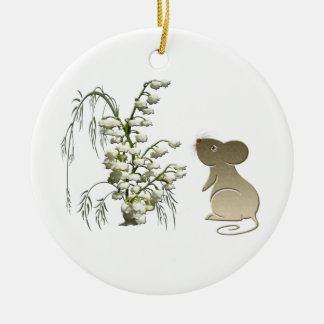 Lily of the Valley and Mouse Ornament