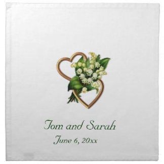 Lily of the Valley and Two Hearts Napkin