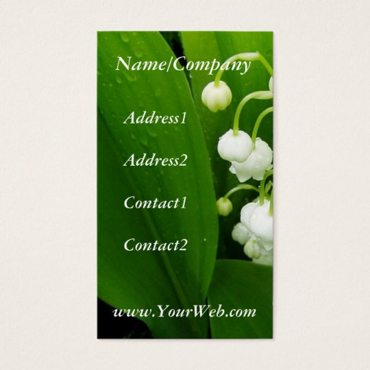 Lily of the Valley Business Card