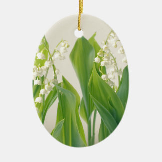 Lily of the Valley Ceramic Oval Decoration