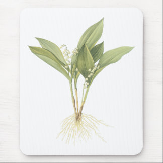 Lily-of-the-valley(Convallaria majalis) by Redouté Mousepads