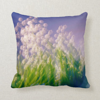Lily of the Valley Dance in Blue Cushion