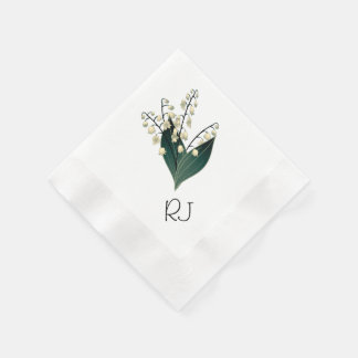 Lily of the valley disposable serviette