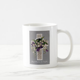Lily of the Valley Easter Cross Basic White Mug
