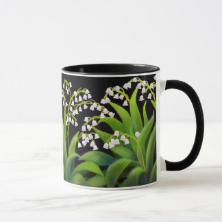 Lily of the Valley Floral Art Mug