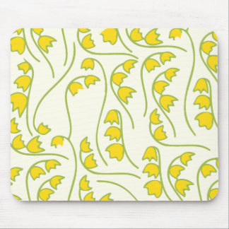 Lily of the Valley Floral Pattern Mouse Pad