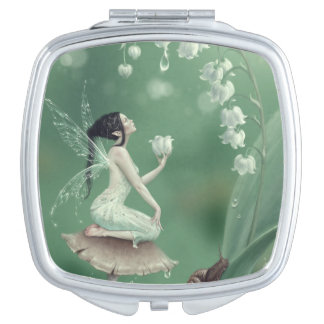 Lily of the Valley Flower Fairy Compact Mirror