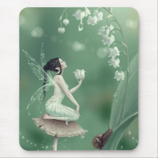 Lily of the Valley Flower Fairy Mousepad