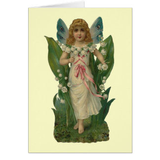 Lily of the Valley Flower Fairy Note Card