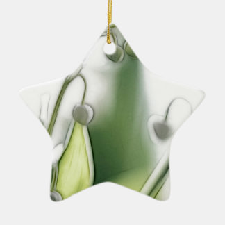 Lily of the Valley Flower Repetition Sketch Christmas Ornament
