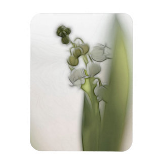 Lily of the Valley Flower Sketch Magnet