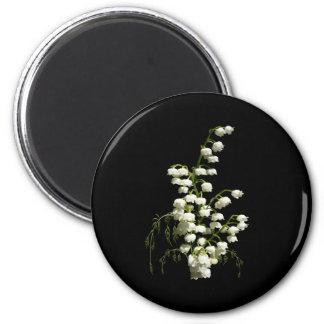 Lily of the Valley flowers 6 Cm Round Magnet