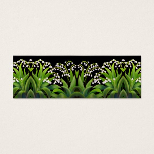 Lily of the Valley Flowers Bookmark Mini Business