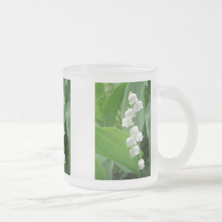 Lily of the Valley Flowers Frosted Glass Coffee Mug