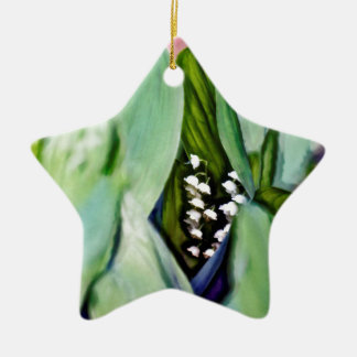 Lily of the Valley Flowers Hidden in the Leaves Christmas Ornament