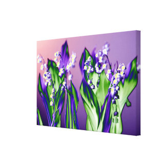 Lily of the Valley in Lavender Canvas Print