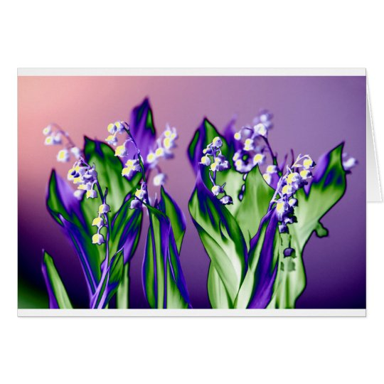 Lily of the Valley in Lavender Card
