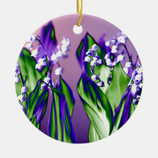 Lily of the Valley in Lavender Christmas Ornament
