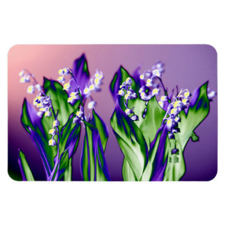 Lily of the Valley in Lavender Magnet