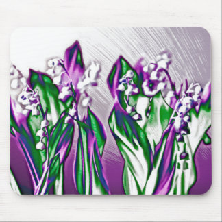 Lily of the Valley in Lavender Mouse Mat