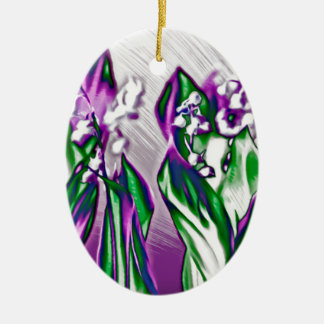Lily of the Valley in Lavender Sketch Christmas Ornament