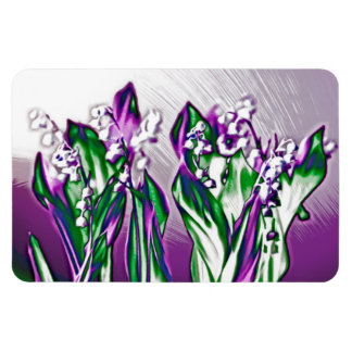 Lily of the Valley in Lavender Sketch Magnet
