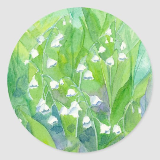Lily of the Valley May Flowers Watercolor Painting