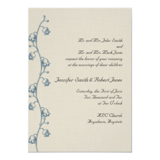 Lily of the Valley on Ecru Linen Invitation