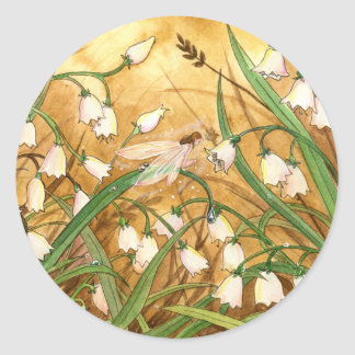 Lily-of-the-Valley Round Sticker