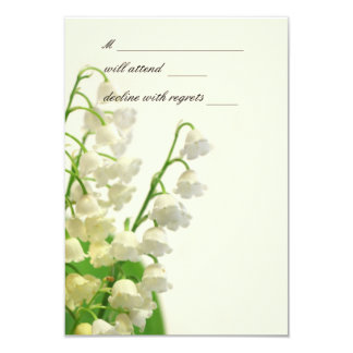 Lily of the Valley RSVP Cards 9 Cm X 13 Cm Invitation Card