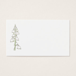 Lily of the Valley Rustic Wedding Place Name Cards