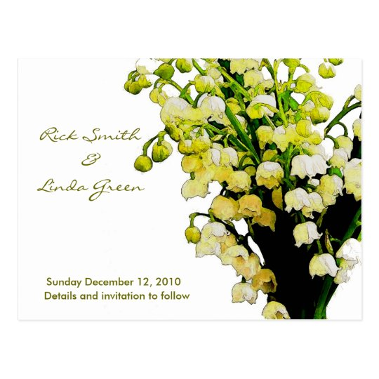 Lily of the Valley- Save the Date Postcard