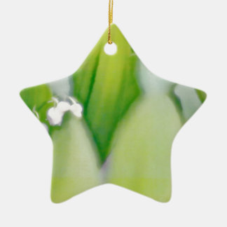 Lily of the Valley Sketch Ceramic Star Decoration