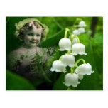 Lily of the Valley Sweet White Bell Flower Bouquet Postcard