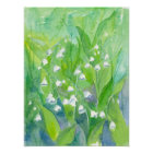 Lily of the Valley Watercolor Flowers Poster