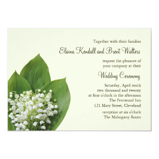 Lily of the Valley Wedding Invitation (ivory)
