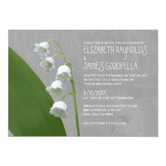 Lily of the Valley Wedding Invitations