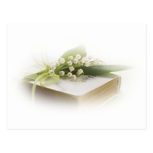 lily of the valley with bible postcards
