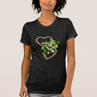 Lily of the Valley with Two Hearts T-Shirt