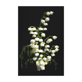 Lily of the Valley Wrapped Canvas