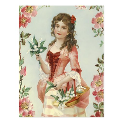Lily of the Vally Maiden Postcards