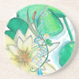 lily pad beverage coasters