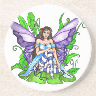 Lily Pad Fairy Drink Coaster