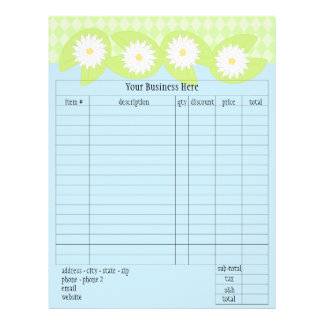 Lily Pad Order Form Full Color Flyer