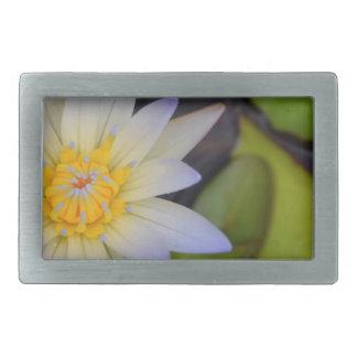 Lily pad rectangular belt buckle